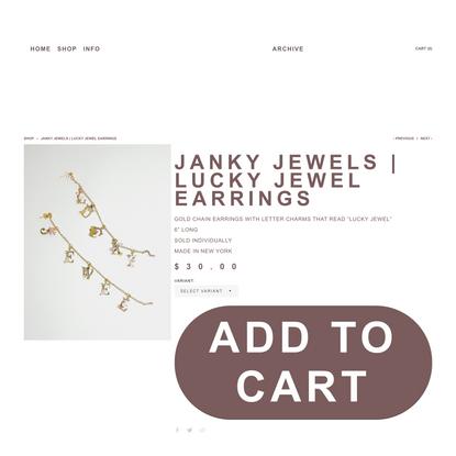 JANKY JEWELS | LUCKY JEWEL EARRINGS — LUCKY JEWEL