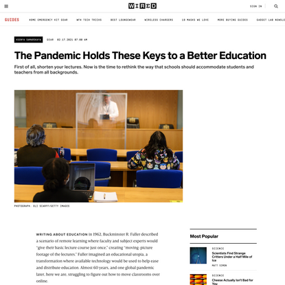 The Pandemic Holds These Keys to a Better Education