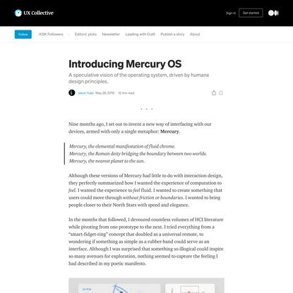 Introducing Mercury OS
