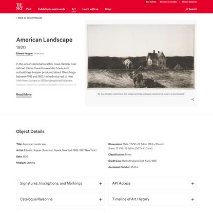 Edward Hopper | American Landscape | The Metropolitan Museum of Art