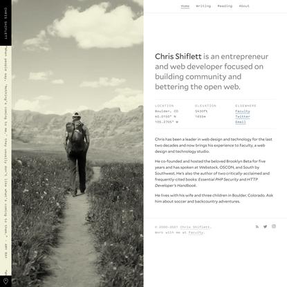 Chris Shiflett — Entrepreneur