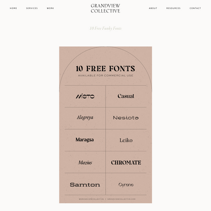 10 Free Funky Fonts — Grandview Collective