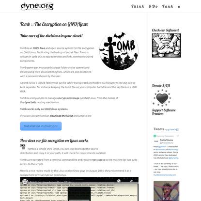 Tomb :: File Encryption on GNU/Linux
