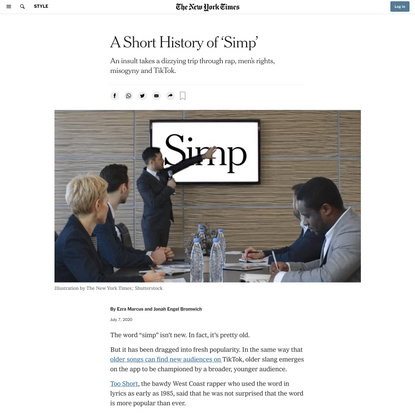 A Short History of 'Simp'