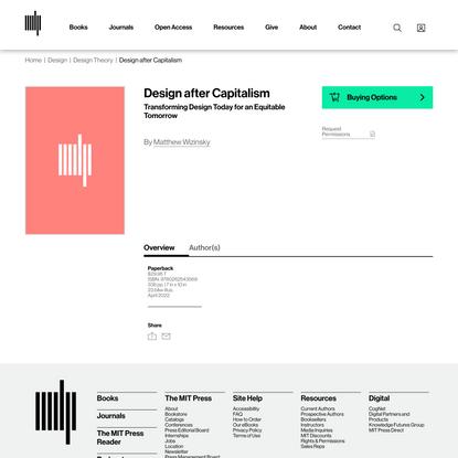 Design after Capitalism