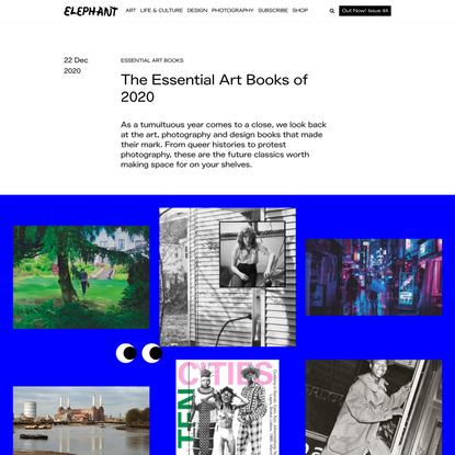 The Essential Art Books of 2020 - ELEPHANT