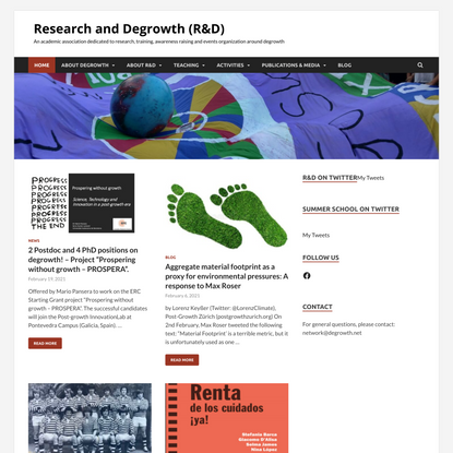 Research and Degrowth (R&D) - An academic association dedicated to research, training, awareness raising and events organiza...