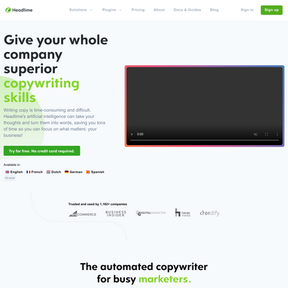 Write better marketing copy faster with AI.
