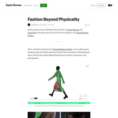 Fashion Beyond Physicality