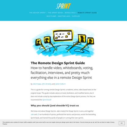 The Remote Design Sprint Guide - The Design Sprint