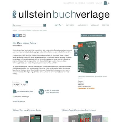Ullstein Buchverlage: Ein Mann seiner Klasse