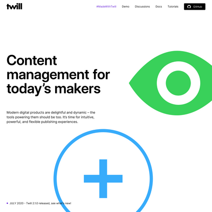 Twill — An open source CMS toolkit for Laravel