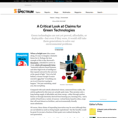 A Critical Look at Claims for Green Technologies - IEEE Spectrum