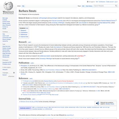 Barbara Smuts - Wikipedia