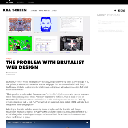 The problem with Brutalist web design - Kill Screen