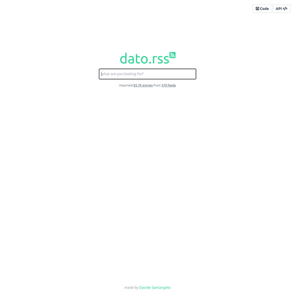 dato.rss - the best RSS search experience you can find