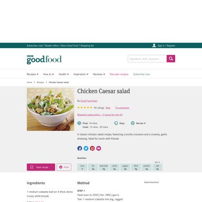 Chicken Caesar salad recipe - BBC Good Food
