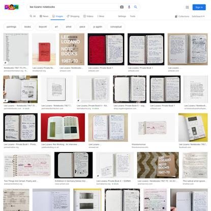 lee lozano notebooks - Google Search