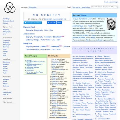 No Subject - Encyclopedia of Psychoanalysis