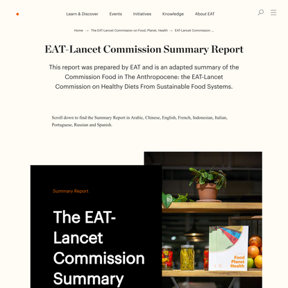 EAT-Lancet Commission Summary Report - EAT