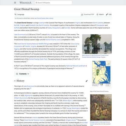 Great Dismal Swamp - Wikipedia