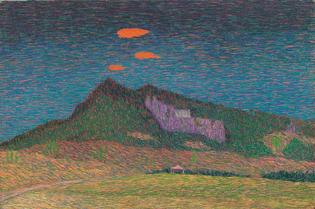 Benvenuto Benvenuti (Italian,  1881 – 1959)  The Sacred Monte Della Verna, N/D  Oil on canvas, 30.5 x 45 cm