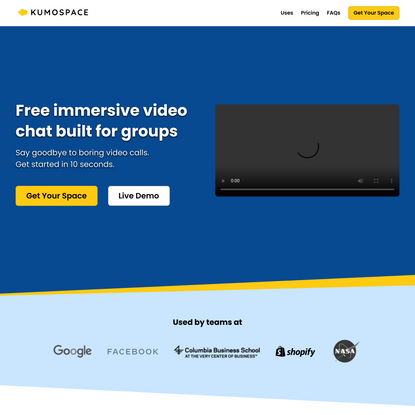 Kumospace - The World's Most Immersive Video Chat