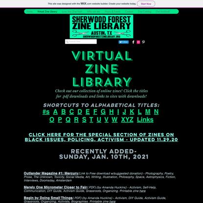 Sherwood Forest Virtual Zine Library