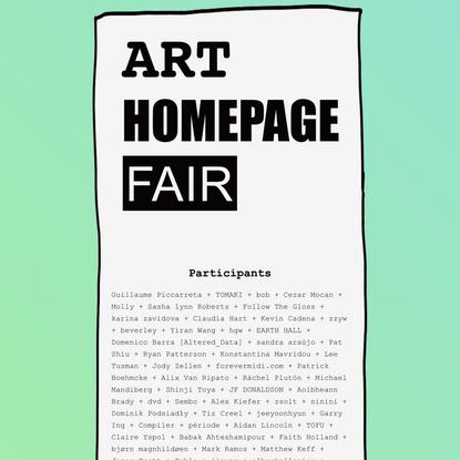 ART HOMEPAGE FAIR