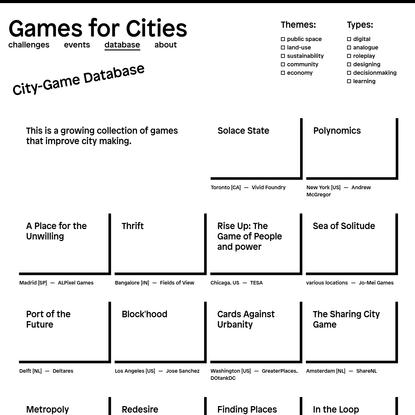 Games for Cities