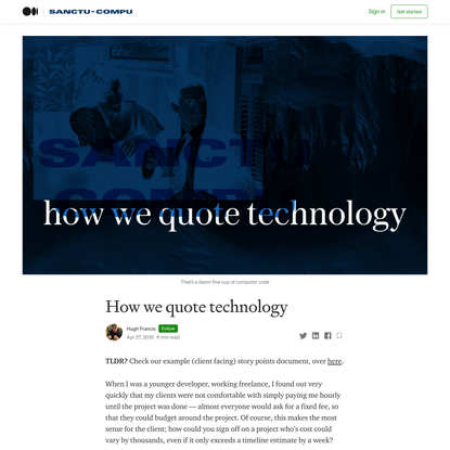 How we quote technology
