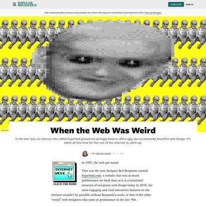 When the Web Was Weird