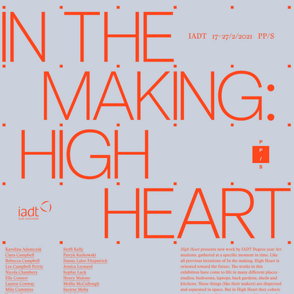 Home | In the making: High Heart