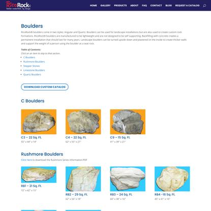 Custom FRC Products: Boulders - RicoRock.com