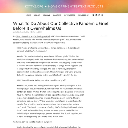 What To Do About Our Collective Pandemic Grief Before It Overwhelms Us
