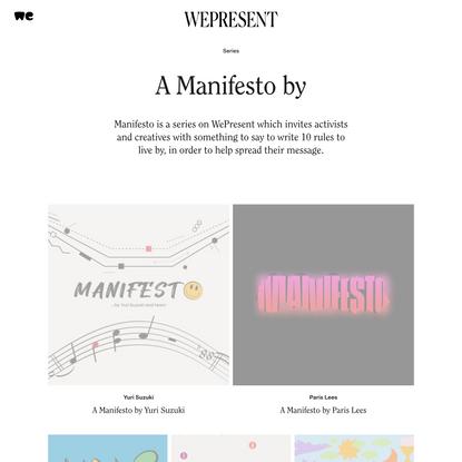 WePresent A Manifesto by |