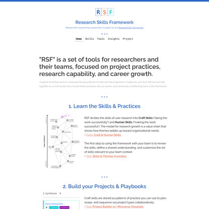 Research Skills Framework