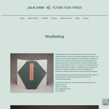 Wayfinding – Julie Chen   Flying Fish Press