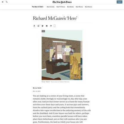 Richard McGuire's 'Here' (Published 2015)