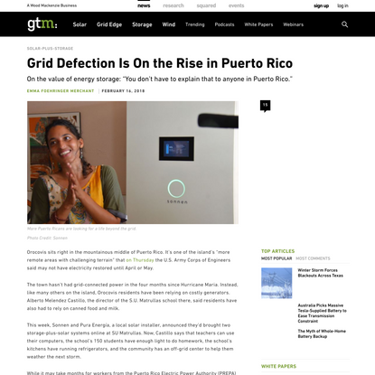 Grid Defection Is On the Rise in Puerto Rico