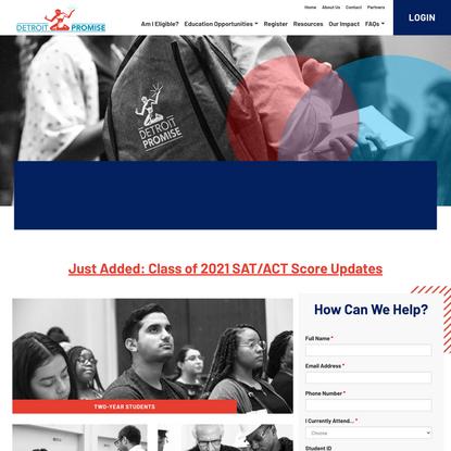 Detroit Promise | Debt Free College for Detroit Students