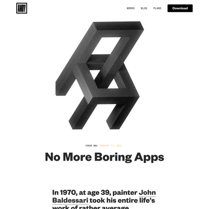 No More Boring Apps | ANDY.WORKS