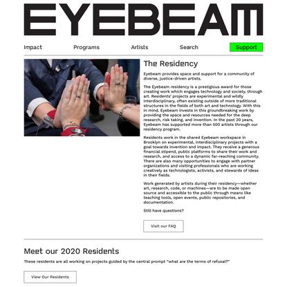 Residency - Eyebeam