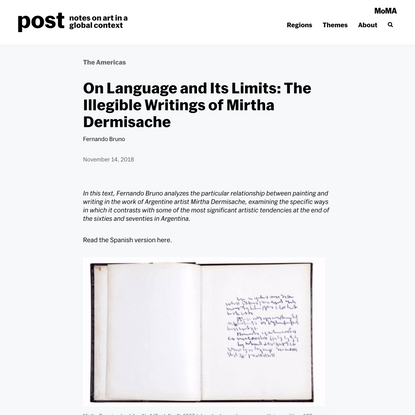 On Language and Its Limits: The Illegible Writings of Mirtha Dermisache | post