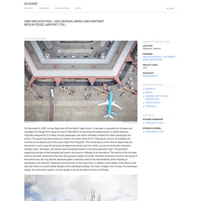 Gmp Architekten - Von Gerkan, Marg und Partner, Marcus Bredt · Berlin-Tegel Airport (TXL)