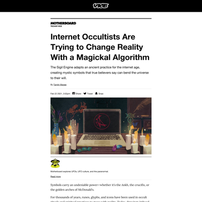Internet Occultists Are Trying to Change Reality With a Magickal Algorithm - VICE