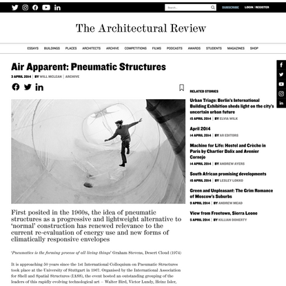 Air Apparent: Pneumatic Structures - Architectural Review
