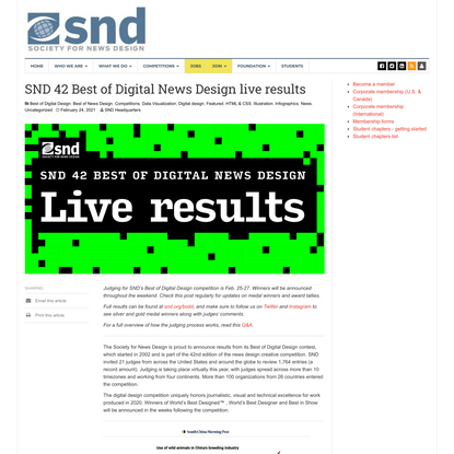 SND 42 Best of Digital News Design live results