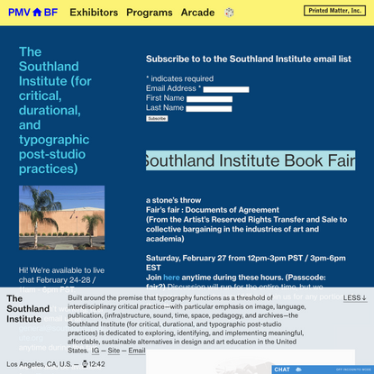PMVABF I The Southland Institute