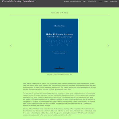 Helen Keller or Arakawa - Reversible Destiny Foundation